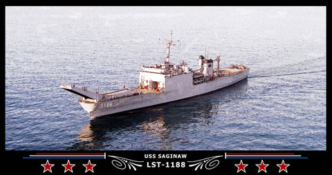 USS Saginaw LST-1188 Art Print