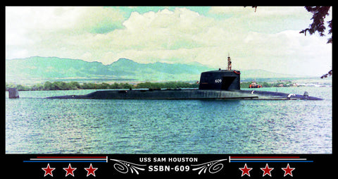 USS Sam Houston SSBN-609 Art Print