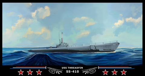 USS THREADFIN SS-410 Art Print