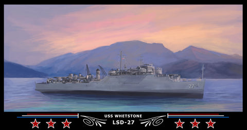 USS Whetstone LSD-27 Art Print