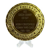 USS Cassia County LST-527 Navy Ship Plaque