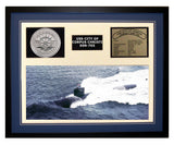 USS City Of Corpus Christi  SSN 705  - Framed Navy Ship Display Blue