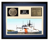 USCGC Bear WMEC-901 Framed Coast Guard Ship Display Blue