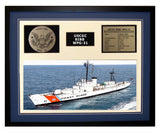 USCGC Bibb WPG-31 Framed Coast Guard Ship Display Blue