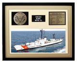 USCGC Bibb WPG-31 Framed Coast Guard Ship Display Brown
