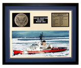 USCGC Burton Island WAGB-283 Framed Coast Guard Ship Display Blue