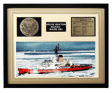 USCGC Burton Island WAGB-283 Framed Coast Guard Ship Display Brown