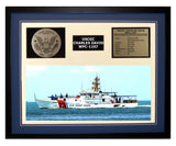 USCGC Charles David WPC-1107 Framed Coast Guard Ship Display Blue