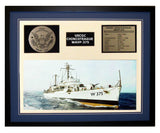 USCGC Chincoteague WAVP-375 Framed Coast Guard Ship Display Blue