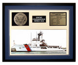 USCGC Courageous WMEC-622 Framed Coast Guard Ship Display Blue