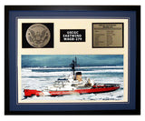 USCGC Eastwind WAGB-279 Framed Coast Guard Ship Display Blue