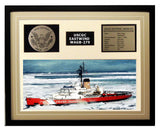 USCGC Eastwind WAGB-279 Framed Coast Guard Ship Display Brown