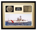 USCGC Evergreen WLB-295 Framed Coast Guard Ship Display Brown
