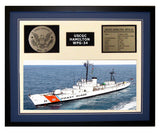 USCGC Hamilton WPG-34 Framed Coast Guard Ship Display Blue
