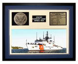 USCGC Harriet Lane WMEC-903 Framed Coast Guard Ship Display Blue