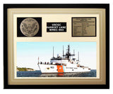 USCGC Harriet Lane WMEC-903 Framed Coast Guard Ship Display Brown