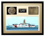 USCGC Lawrence O. Lawson WPC-1120 Framed Coast Guard Ship Display Brown