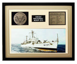 USCGC Mackinac WAVP-371 Framed Coast Guard Ship Display Brown