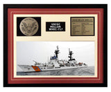 USCGC Mellon WHEC-717 Framed Coast Guard Ship Display Burgundy