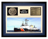 USCGC Mobile Bay WTGB-103 Framed Coast Guard Ship Display Blue