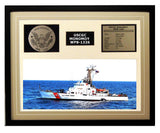 USCGC Monomoy WPB-1326 Framed Coast Guard Ship Display Brown