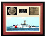 USCGC Paul Clark WPC-1106 Framed Coast Guard Ship Display Burgundy