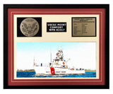 USCGC Point Comfort WPB-82317 Framed Coast Guard Ship Display Burgundy