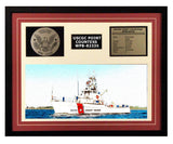 USCGC Point Countess WPB-82335 Framed Coast Guard Ship Display Burgundy