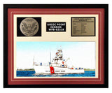 USCGC Point Herron WPB-82318 Framed Coast Guard Ship Display Burgundy