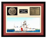 USCGC Point Lobos WPB-82366 Framed Coast Guard Ship Display Burgundy