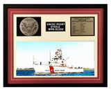 USCGC Point Steele WPB-82359 Framed Coast Guard Ship Display Burgundy