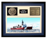 USCGC Polar Sea WAGB-11 Framed Coast Guard Ship Display Blue