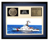 USCGC Sanibel WPB-1312 Framed Coast Guard Ship Display Blue