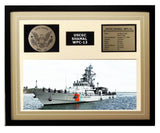 USCGC Shamal WPC-13 Framed Coast Guard Ship Display Brown