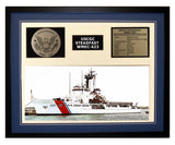 USCGC Steadfast WMEC-623 Framed Coast Guard Ship Display Blue