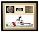 USCGC Steadfast WMEC-623 Framed Coast Guard Ship Display Brown