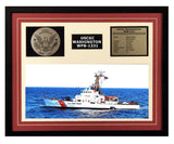 USCGC Washington WPB-1331 Framed Coast Guard Ship Display Burgundy