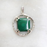 Malachite Twisted Silver Pendant