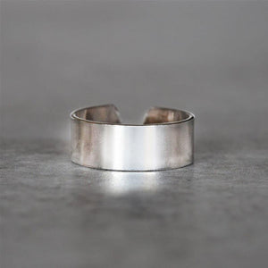 PLAIN SILVER ADJUSTABLE TOE RING - SILBERUH