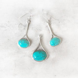 THE TURQUOISE BALLET SILVER  SET - SILBERUH
