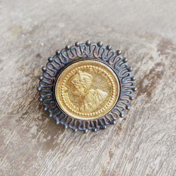 GEORGE V EMPRESS COIN RING - SILBERUH