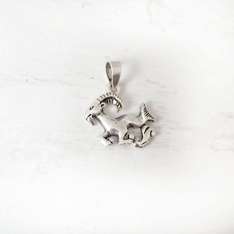ARIES ZODIAC SIGN SILVER PENDANT