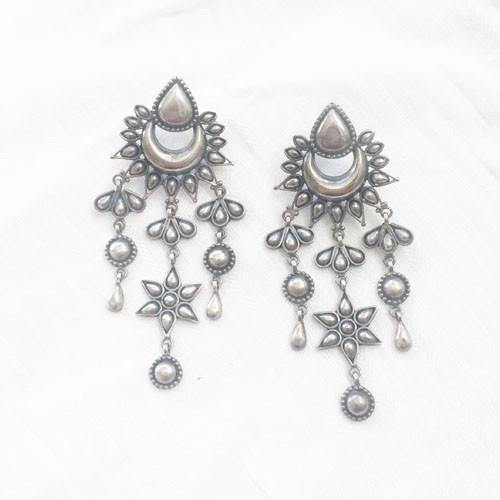 CHAND BALI SILVER EARRINGS - SILBERUH