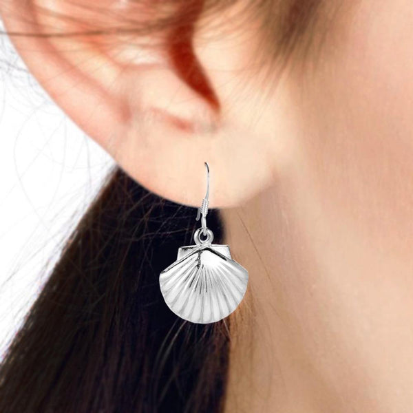 SEA SHELL SILVER EARRING - SILBERUH