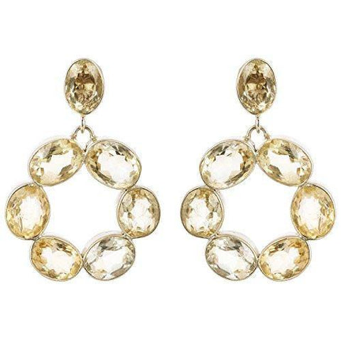 FACETTED CITRINE EARRING - SILBERUH