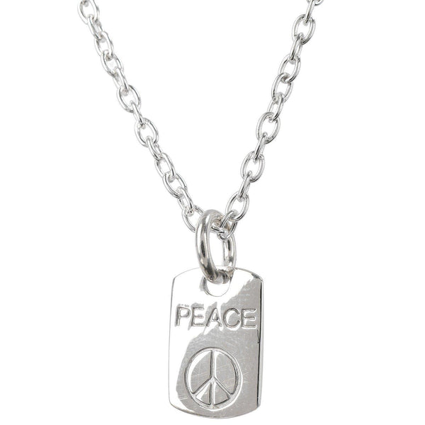 PEACE SILVER CHARM PENDANT - SILBERUH