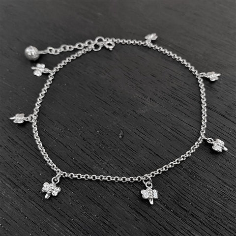 BUTTERFLY SILVER ANKLET