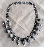 TRIBAL BALL SILVER NECKLACE - SILBERUH