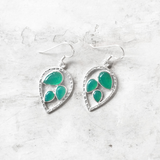 Green Onyx Leaf Earring - SILBERUH