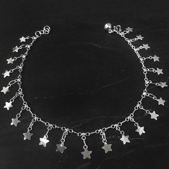 STAR SILVER ANKLET - SILBERUH